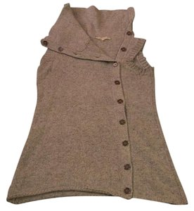 Etam Gray Vest Layering Cowl Sweater
