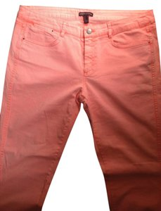Mango Mng Skinny Pants Orange
