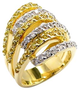 Other Gold+Rhodium AAA Grade Cubic Zirconia Ring