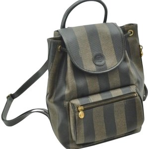 Fendi Pequin Pattern Backpack