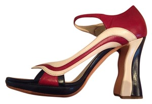 Prada Red, White and Blue Pumps
