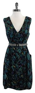 Tracy Reese short dress Teal Cotton Silk on Tradesy