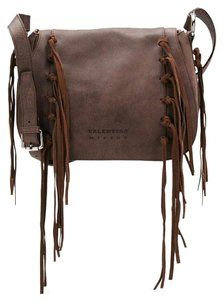 Mario Valentino Tribe Fringe Flap Shoulder Bag