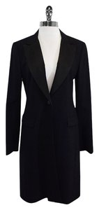 Theory Long Wool One Button Jacket Black Blazer