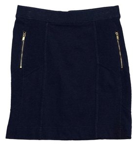 Marc Jacobs Navy Gold Zip Mini Skirt