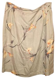 Tommy Bahama Skirt Floral Silk Button Wrap Around