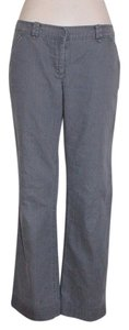 Anthropologie Wide Leg Twill Cotton Soft Straight Pants GRAY