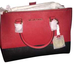 Michael Kors Satchel in Red And black