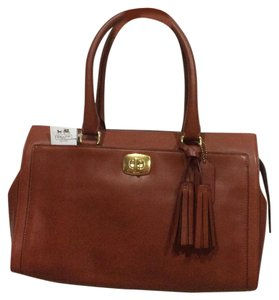Coach Leather Classic Satchel in Cognac