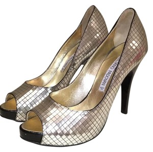 Luciano Padovan Metallic and black Platforms