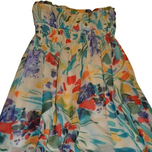 Forever 21 Floral Strapless Formal Dress