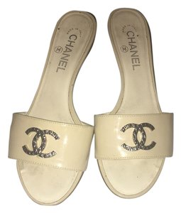 Chanel Navy Sandals