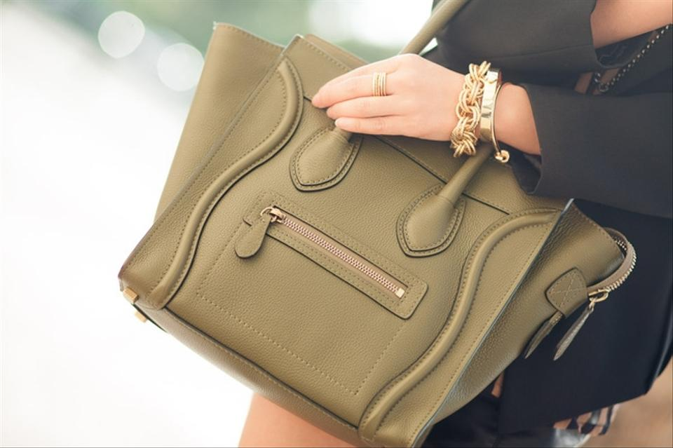 celine bag cheap - C��line Luggage Olive Green Tote Bag on Sale, 31% Off | Totes on ...