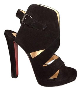 Christian Louboutin Booties Ankle Boots Black Platforms