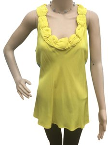 INC International Concepts Top Yellow Gray