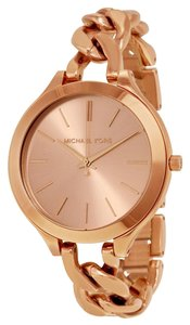 Michael Kors Michael Kors Women's Rose Gold-Tone Slim Runway Watch MK3223