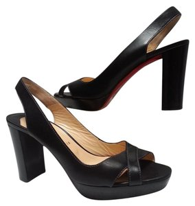 Christian Louboutin Crisscross Straps Black Pumps