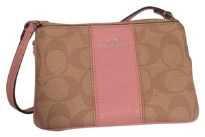 Coach Wristlet in Light Pink, Brown