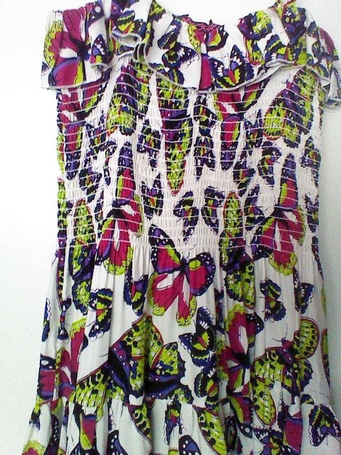neon butterfly print Maxi Dress by Betsey Johnson