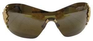 FRED FRED LUNETTES Sunglasses 8267 PEARLS F5 Gold Champagne Authentic