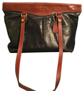 Delfino Tote in Black And Brown
