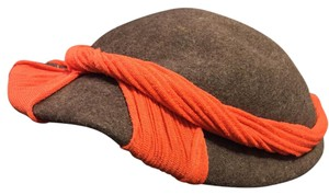Kerrybrooke Kerrybrooke Fashions Colorblock Orange Vintage Hat New With Vintage Sears Tag