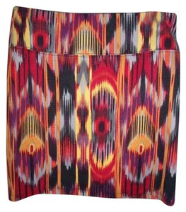 Xhilaration Colorful A-line Hippie Gypsy Mini Skirt Multi-Color