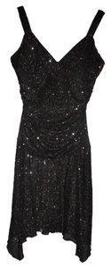 Taboo Sparkling Draped Slinky Sexy Dress