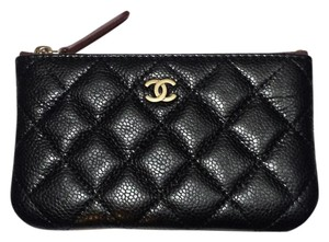 Chanel New Caviar Small Zip Pouch - Wallet Clutch Card Coin Case