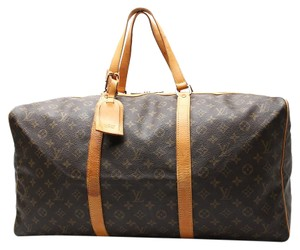 Louis Vuitton Sac Souple 55 Lv Boston Brown Travel Bag