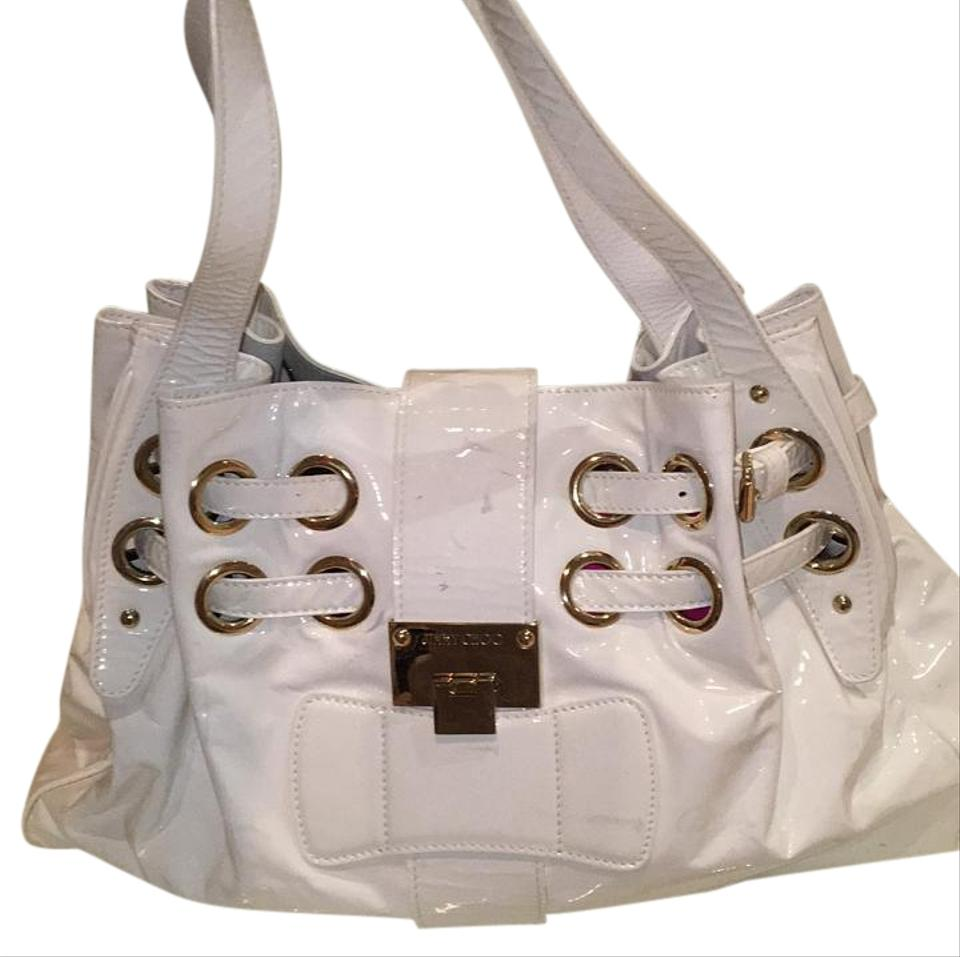 Jimmy Choo Ramona White Patent Leather Tote 85 Off Retail