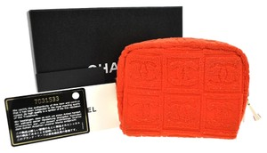 Chanel Orange Clutch