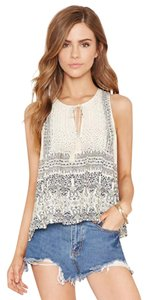 Forever 21 Top Ivory/Navy