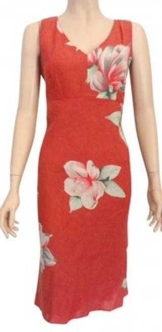 Preload https://item4.tradesy.com/images/banana-republic-coral-floral-print-business-to-knee-length-cocktail-dress-size-6-s-187298-0-0.jpg?width=400&height=650