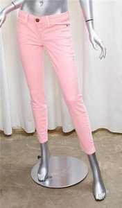 Current/Elliott Womens Stiletto Day Glo Pink Cotton Skinny Denim 25 Skinny Jeans