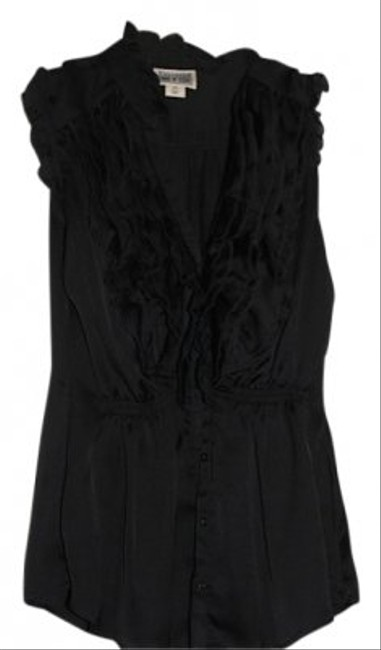 Target Silky Texture Ruffle Top black