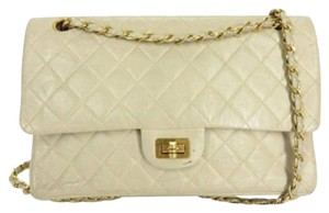 Chanel 2.55 255 Medium Quilted Grey Shoulder Bag