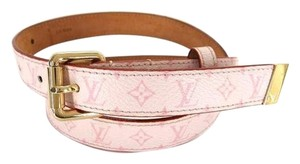 Louis Vuitton Pink Monogram Belt