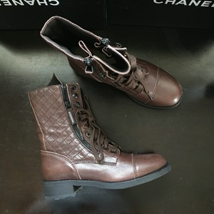 Chanel Quilted brown Boots