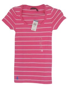 Polo Ralph Lauren T T Shirt Pink/White