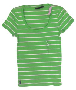 Polo Ralph Lauren T T Shirt Green/White