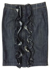 7 For All Mankind Skirt blue denim