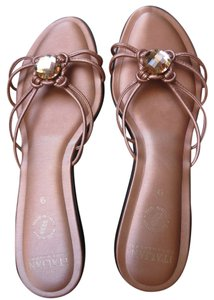 Pink, Copper, Metallic, Rose Gold Sandals