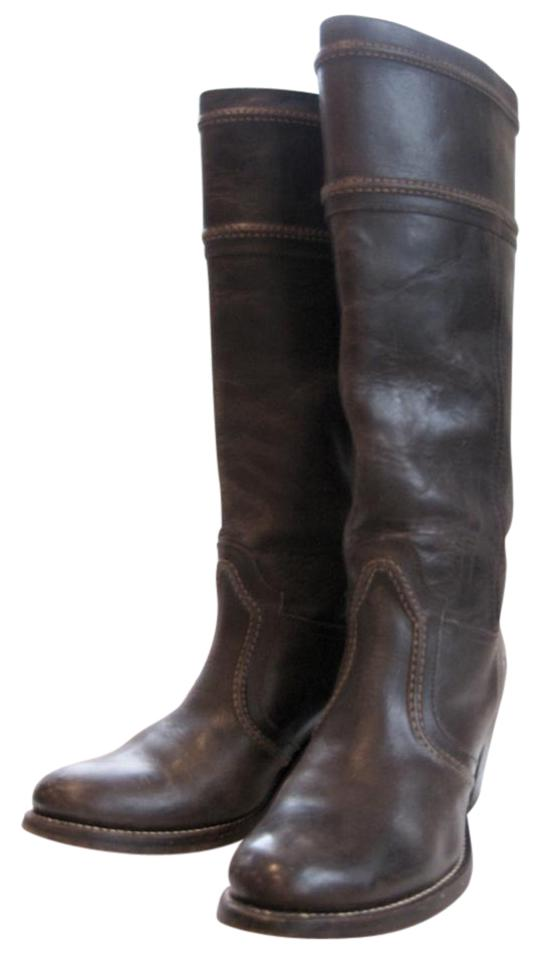 Frye 14l Brown Jane Trapunto Stitch 14l Frye Dark Tall B Boots/Booties 7c163b
