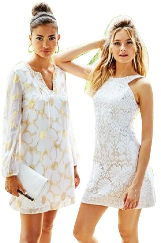 Lilly Pulitzer White Largo Cut In Lace New Above Knee Cocktail Dress