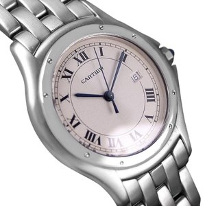 Cartier Cartier Cougar Panthere Mens Quartz Watch with Date - Stainless Steel