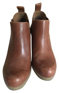Dr. Martens Leather Wedge Bootie Saddle Boots