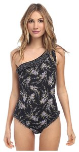 Michael Kors Michael Kors Wisteria Ruffle One Shoulder Maillot Swimsuit