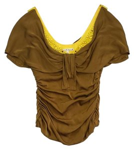 Nanette Lepore Gold Yellow Beaded Top