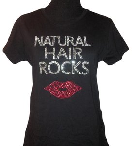 Next Level Apparel Rhinestone Tee Fitted Natural Hair T Shirt Black